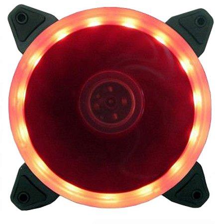 Cooler Gabinete 120x120mm Bluecase BFR-05R LED Vermelho