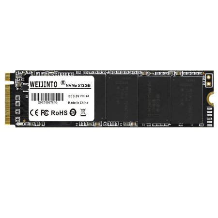 SSD 512GB M.2 NVME Leitura 2500MB/s Weijinto