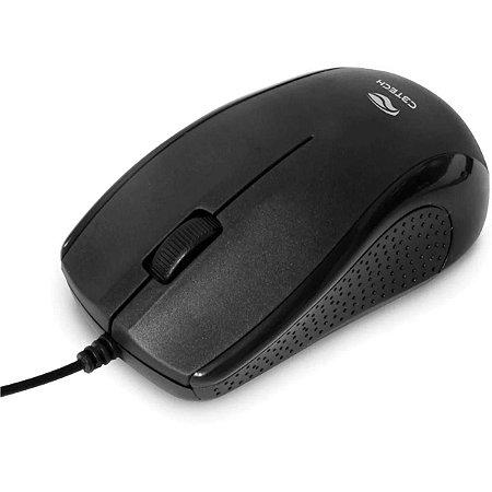 Mouse USB 1000DPI Preto 2 Metros MS-26BK C3Tech