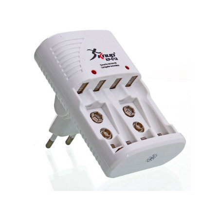 Carregador de Pilhas Universal AA/AAA/9V KP-512 Knup