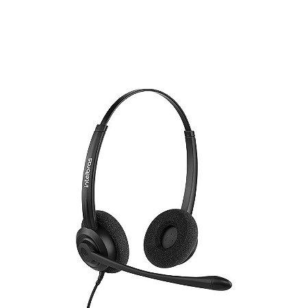 Headset Biauricular USB CHS 60B Intelbras