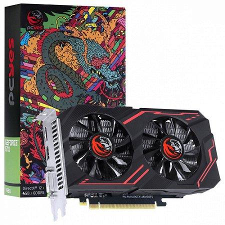 Placa de Vídeo Geforce GTX 1650 4GB GDDR5 128Bit Black HDMI DP DVI PCyes