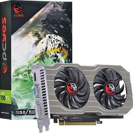 Placa de Vídeo NVidia GeForce GTX 750Ti 2GB GDDR5 128bits HDMI VGA DP PCYES