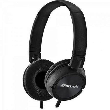 Headphone Estéreo P2 c/Microfone Preto HMF-501BK Fortrek