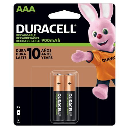Pilha Duracell Recarregável DX1500 900mAh AAA 2 Unidades