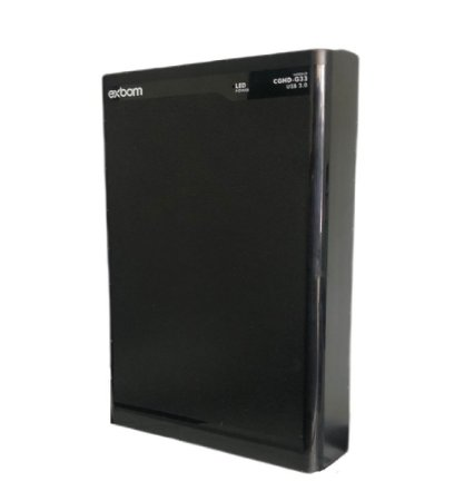 "Case HD 3.5"" USB 3.0 Business Preto CGHD-G33 Exbom"
