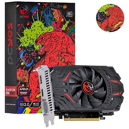 Placa de Vídeo Radeon RX 550 4GB GDDR5 128Bits PJRX550041128G5SF PCYES