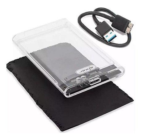 """Case HD 2.5"""" Transparente USB 3.0 KP-HD012 Knup"""