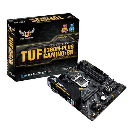 Placa Mãe Asus TUF Gaming B360M-PLUS DDR4 M.2 9ª Ger Intel