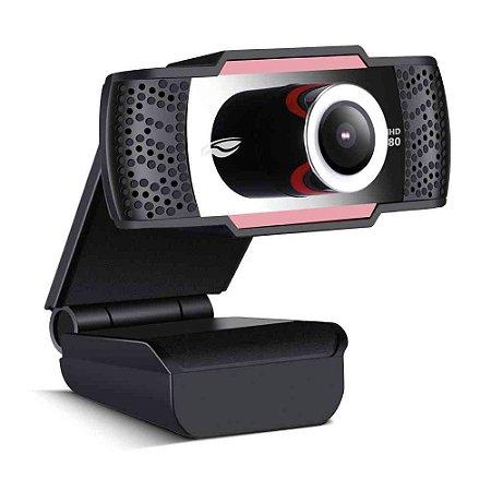 Webcam C3Tech WB-100 FULL HD 1080P C/Microfone Preto Vermelho