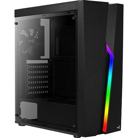 Gabinete Gamer MID Tower RGB Acrílico Bolt Aerocool