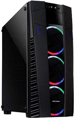 Gabinete Gamer RGB Black Elite c/3 Fans MyMax