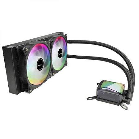 Water Cooler Algor Dual Fan 240MM Intel/AMD LED RGB MyMax