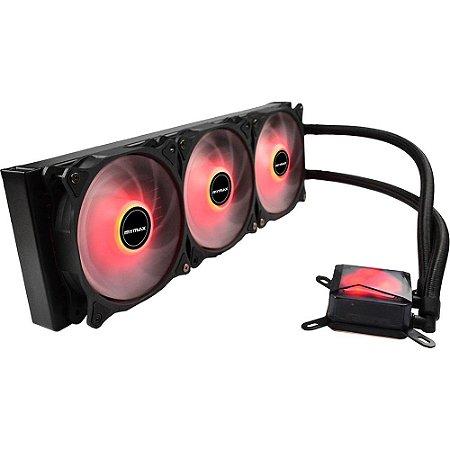 Water Cooler Algor Triple Fan 360MM Intel/AMD LED Vermelho MyMax