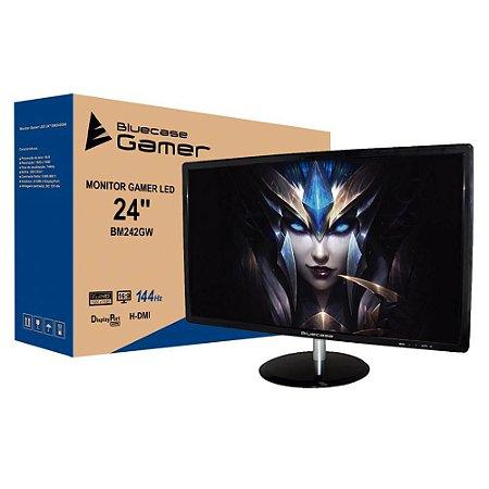"""Monitor Bluecase Full HD LED 24"""" HDMI DisplayPort 144hz 1MS BM242GWCASE"""
