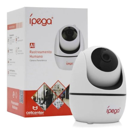 Câmera Ípega Panorâmica Wifi com Rastreamento Humano 1080p KP-CA 173