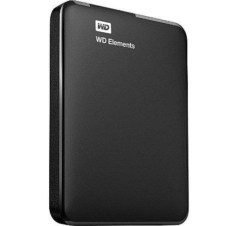 HD Externo Western Digital Element 2TB Portátil USB 3.0 WDBUZG0010BBK