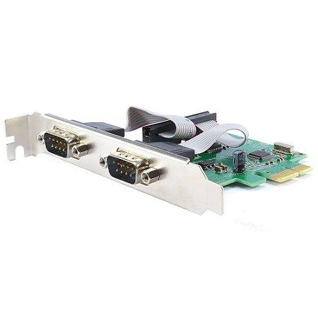 Placa PCI-Express 2x Serial DB9 3 Modos KP-T89 Knup