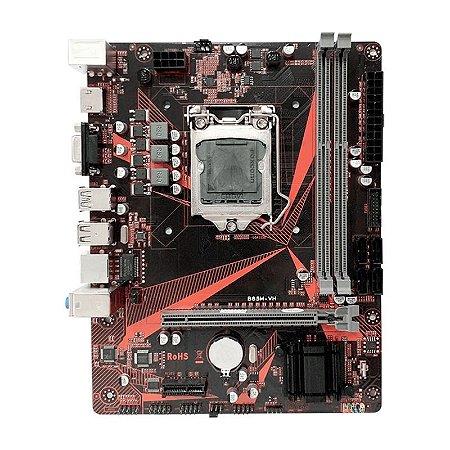 Placa Mãe B85M-VH Plus 1150 4° Ger. M.2 USB 3.0 VGA/HAMI