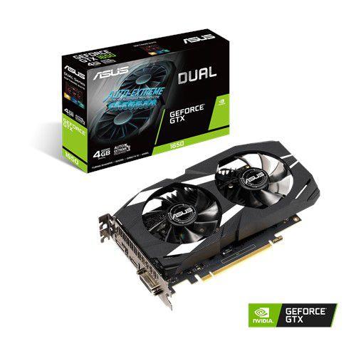 Placa de Vídeo Geforce GTX 1650 4GB Dual GDDR5 128Bit  HDMI DP DVI Asus