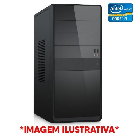 Computador Intel Core i3 7100 3.9GHz + Placa Mãe 1151 DDR4 + Memória 4GB DDR4 + SSD SATA 128GB