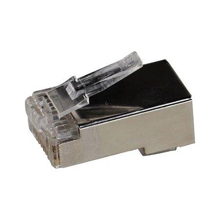 Conector RJ45 Macho CAT6 Link+ Blindado Gigabit 1 Unidade