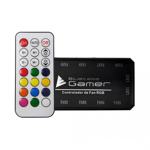 Controlador de Fan RGB 10 Fans 2 Fitas c/Controle BCF01CASE Bluecase