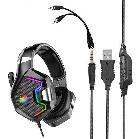 Headset Gamer RGB KP-489 PC CELULAR NOTEBOOK Knup