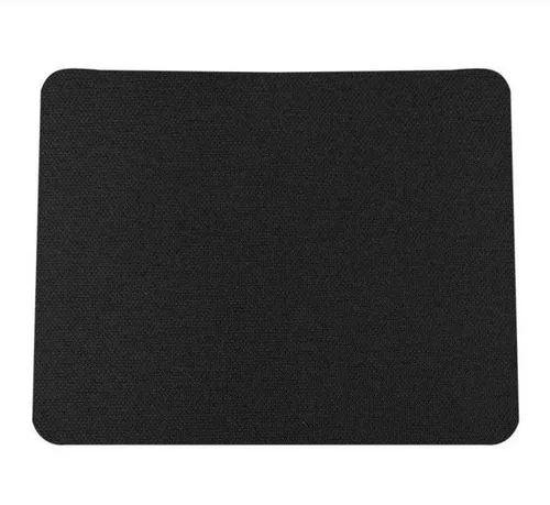 Mouse Pad Básico Emborrachado Preto 21,5x18cm