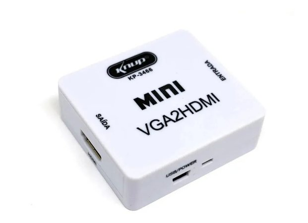 Conversor VGA x HDMI c/Audio 1080p KP-3466 Knup