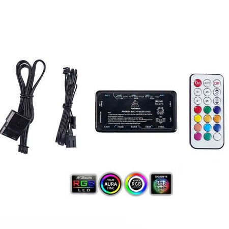 Controlador de FAN ARGB 5 Fans 5 Endereçáveis Fita LED Formulamod FM-MFC