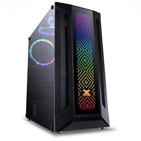 Gabinete Gamer Mid Tower eATX Fita 3 Coolers RGB Sagitarus Vinik