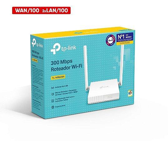 Caixa com 20 Roteadores Wireless 300Mbps 2 Antenas Qos Configurável TL-WR829N TP-Link