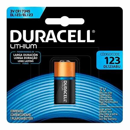 Bateria Duracell Litio DL123ABU CR-123