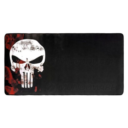 Mouse PAD Gamer Grande Justiceiro Blood 700x350mm Emborrachado MP-7035C Exbom
