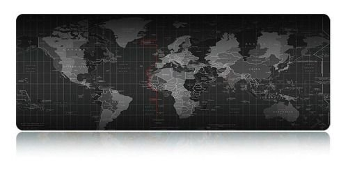 Mouse PAD Gamer Grande Mapa Mundi 700x350mm Emborrachado MP-7035C Exbom