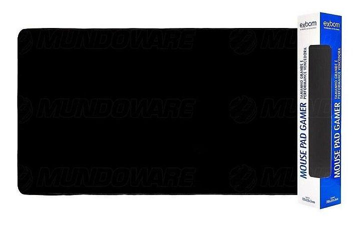 Mouse PAD Gamer Grande Preto Básico 700x350mm Emborrachado MP-7035C Exbom