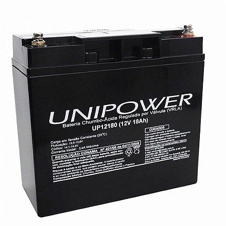 Bateria Selada VRLA 12V 18A UP12180 UNIPOWER