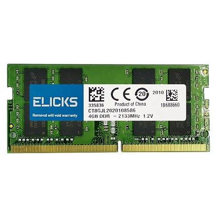 Memoria Notebook DDR3 4GB 1333MHZ Elicks