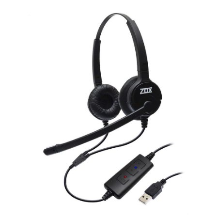 Headset Duplo Auricular Ajuste Microfone DH-80D ZOX