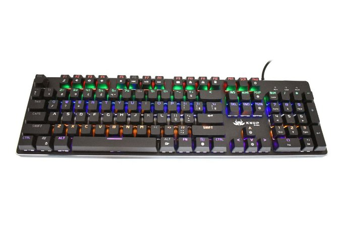 Teclado Mecânico Switch Blue LED Rainbow AntiGhost KP-2051 Knup