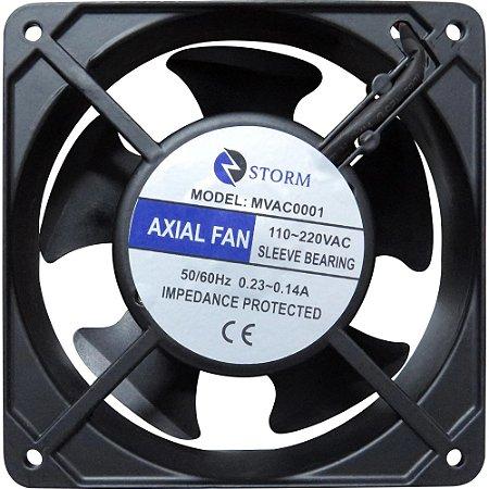 Cooler Fan 120MM 110/220v Refrigeração 2400RPM Storm Preto