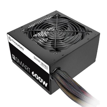 Fonte Thermaltake Smart 600W Real Full Range Selo 80 Plus