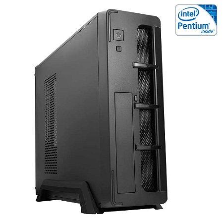 COMPUTADOR SLIM CIA ENTERPRISE II, INTEL PENTIUM G5420, PLACA MÃE H310G, MEMORIA 8GB DDR4, SSD NVME 128GB, GABINETE SLIM