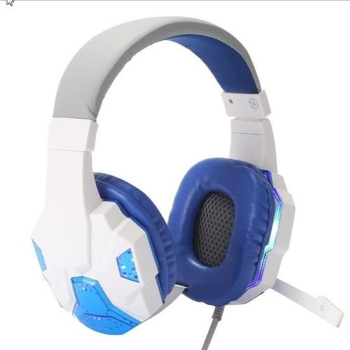 Headset Pro Gaming Gears c/LED Branco PC PS4 XBOX Celular KP-397 Knup