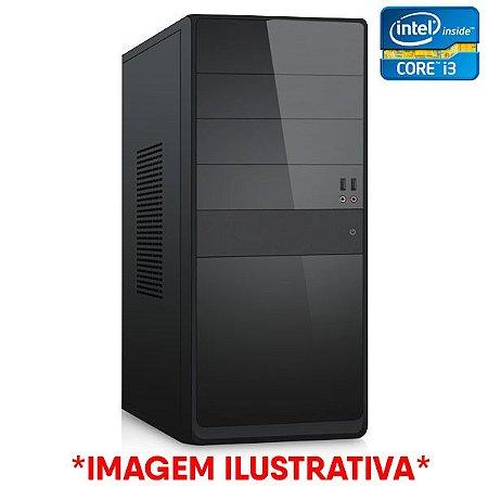 COMPUTADOR CIA CORPORATE XVII, INTEL CORE I3 3220, PLACA MÃE H61, MEMORIA 8GB DDR3, SSD SATA 240GB, GABINETE BASICO PRETO