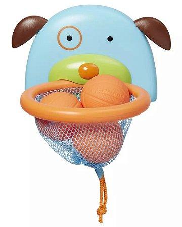 Brinquedo de banho para bebê ou crianças - cesta de basquete cachorro