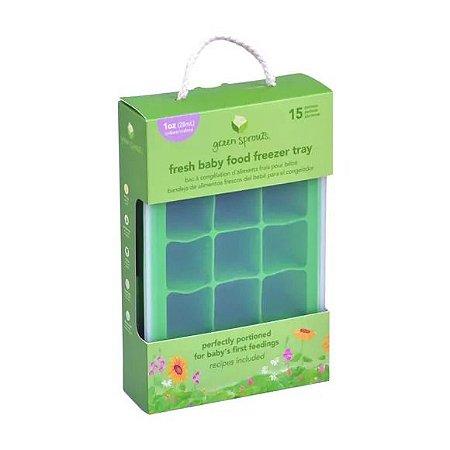 Forma de silicone para alimentos  - 28ml uso congelador marca: (green sprouts) disponível somente na cor azul