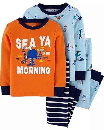 Pijama Carter`s - 4 peças (disponível somente para 3 anos forma pequena da certo em menos idade)