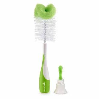 Escova para mamadeira - na cor verde